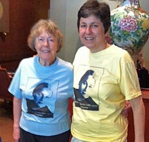 Rebecca Clarke T-shirts (yellow and blue)